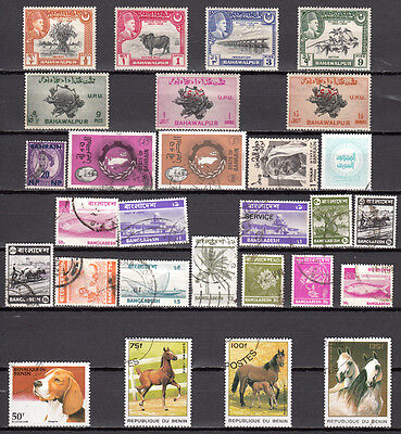 LOT 61. 4 X Bangladesh plus other COUNTRIES X28 Different stamps in all
