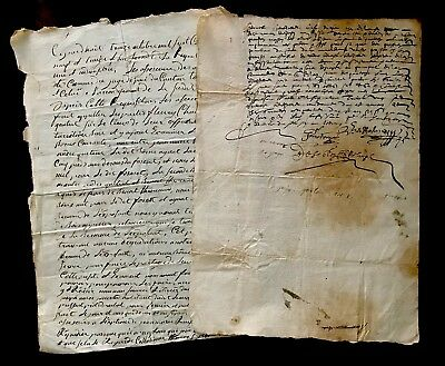 1631 and 1793 Two Handwritten Original Documents