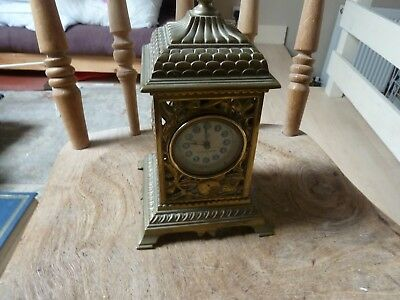 United Clock Co British Winding Movement Mantle Clock solid brass