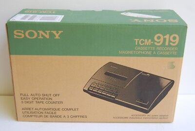 Sony TCM-919 Cassette Recorder / Tape Player TESTED Instruction & Power Cord!