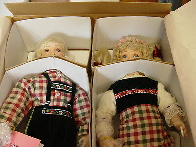"""Paradise Galleries Porcelian  Doll  """"HANSEL & GRETEL  (New In Box) Early 90's"""