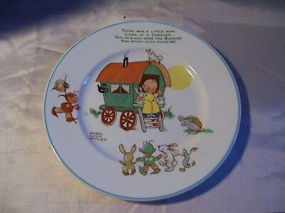 "Shelley Children Child Nursery Rhyme 7"" Plate Mabel Lucie Attwell England Wagon"