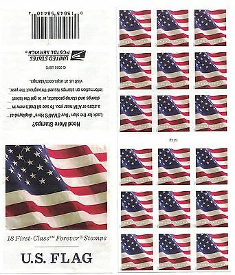 2017 US STAMP - US FLAG - Forever ATM Pane of 18 - Scott# 5162/5162a