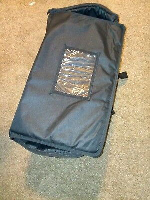Choice Large Insulated Black Catering Delivery Food Full Pan Carrier Bag used