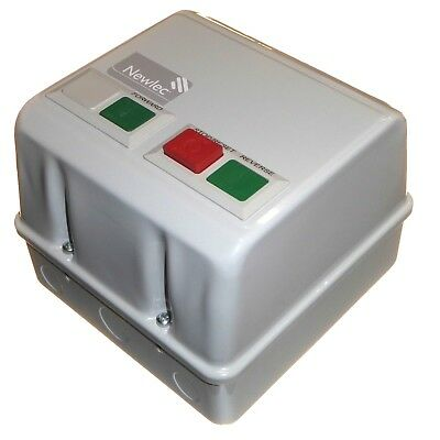 Metal enclosed reversing motor starter 5.5kW 230V IP55 DOL Direct on-line Newlec