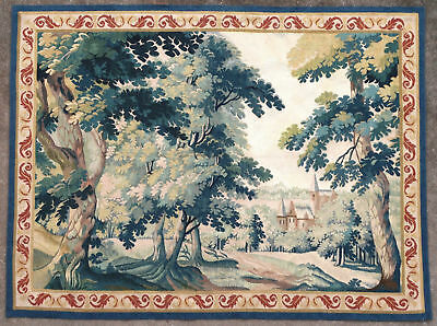 Tapestry rug carpet antique European Europe French France Aubusson 1950