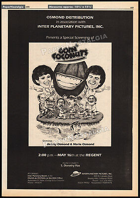 GOIN' COCONUTS__Orig. 1979 Trade print AD promo / poster__Donny and Marie Osmond