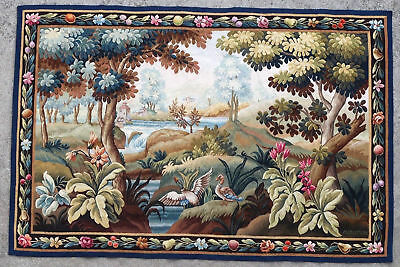 Tapestry rug carpet antique European Europe French France Aubusson 1960