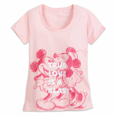 NWT Disney store Women Mickey and Minnie Mouse Tee Shirt Top True Love Many size