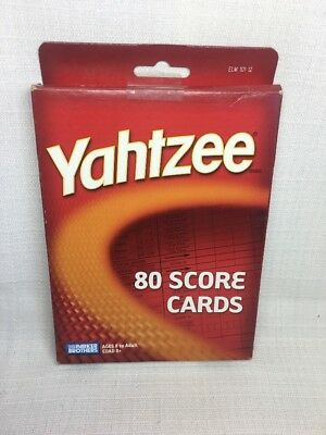 (CM) Yahtzee 80 Score Cards, Family Board Game By Parker Brothers New