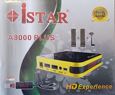 iSTAR-Korea-A8000-PLUS-Full-HD-USB-CA-Receiver-ONLINE 6 months 3000 channels