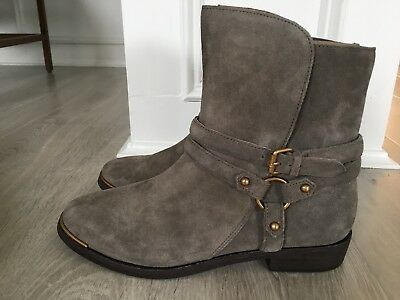 ec4fcd354cd NEW UGG AUSTRALIA KELBY MOUSE SUEDE HARNESS ANKLE BOOTS, Style 1019151,  size 8