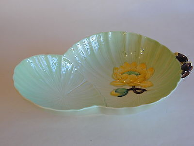 Beautiful Carlton Ware Australian Green Water Lily Bowl *Mint*