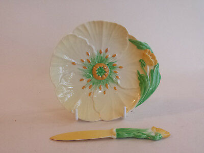 Carlton Ware Australian Yellow Buttercup small Plate and knife