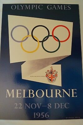 Olympic Games Collectable - Sydney - 2000 - Poster Card - Melbourne - 1956.