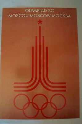 Olympic Games Collectable - Sydney - 2000 - Poster Card - Moscow - 1980.