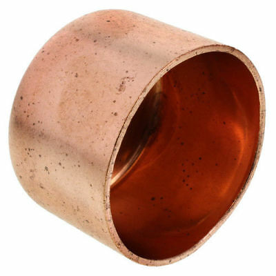 "1/2"" Copper Cap Sweat End Copper Pipe Fitting (lot Of 25)"