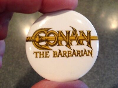 Conan The Barbarian Movie Promo Pin back Button Pin Universal Studios