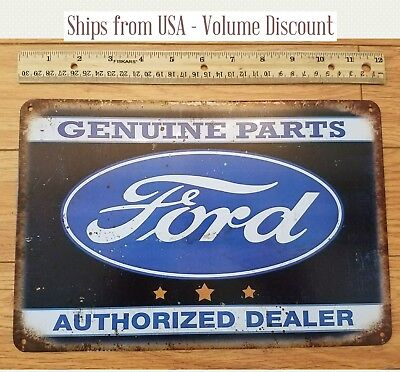 FORD Sign Ford Genuine Parts Sign Ford Metal Sign Ford Tin Sign Ford Metal Art
