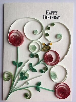 Handmade Happy Birthday Quilled Card