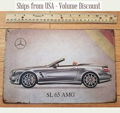 MERCEDES Sign SL 65 AMG Sign Mercedes Car Art Mercedes Metal Sign Mercedes Signs