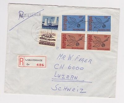 Netherlands Registered Airmail Cover to Switzerland