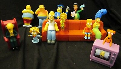 HTF Complete Simpsons Counch a Bunga Sofa plus 6 Extra characters TV Cartoon