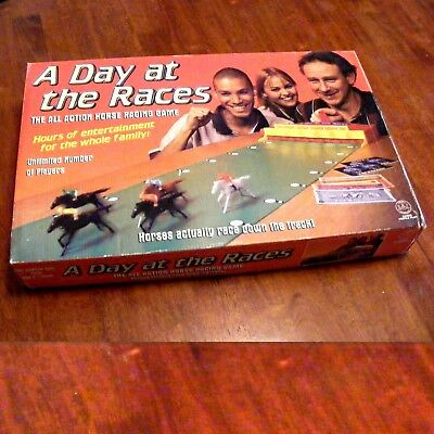 A Day At The Races ... Active Horse Racing Table Top Board game .. Crown Andrews