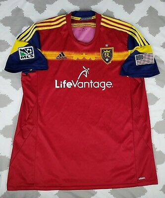 Real Salt Lake Adidas MLS Soccer Jersey Mens sz 2XL XXL Adizero Authentic  EUC ad72f2b76