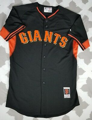 84b5732dafc San Francisco Giants Majestic Authentic Cool Base Baseball Jersey sz 44 L  Black