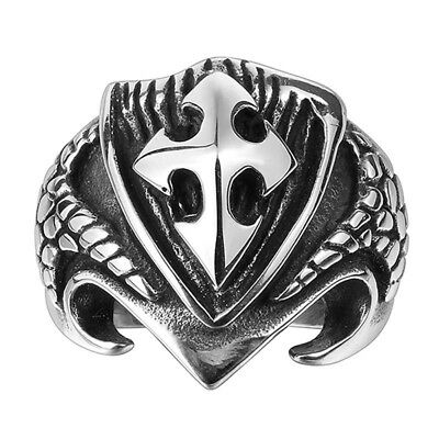 Men's Motorcycle Biker Ring Hot Stainless Steel Knight's Templar Cross Ring New!
