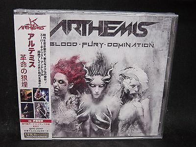 ARTHEMIS Blood Fury Domination + 2 JAPAN CD Power Quest Killing Touch Funeral Cr