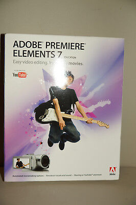New Never Used Adobe Premiere Elements 7 Education