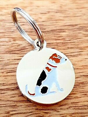 Sweet William Jack Russell Dog Collar Tag | Silver Plated | New