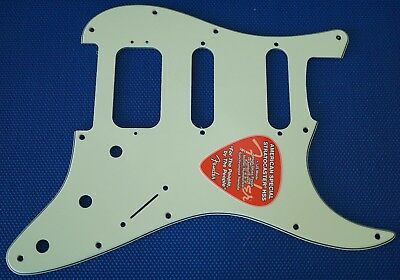 Fender American Special Stratocaster HSS Strat PICKGUARD Guitar Mint Green 3 Ply