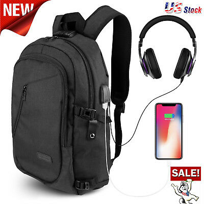 ONSON Anti Theft Business Laptop Backpack USB Charging Port Water Resistant