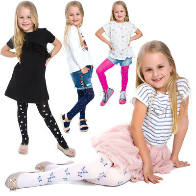 Girls Colorful Tights Lovely Pattern Thin Soft Comfortable Child Age 1-12 6006