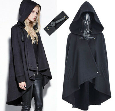 0199ed5506616 Veste cape sweat capuche gothique punk lolita fashion elfique fermoir  Punkrave