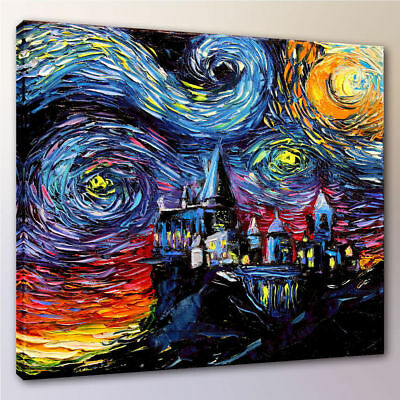 Harry Potter Hogwarts School Canvas Painting Home Decor Movie Posters Unframed