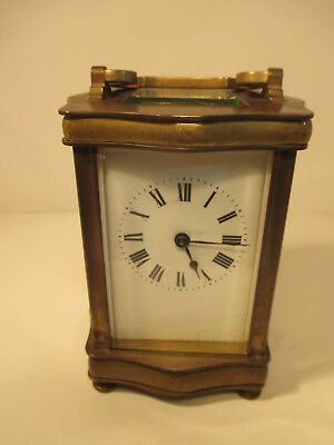 Vintage Brass Carriage Clock - Spares Or Repairs