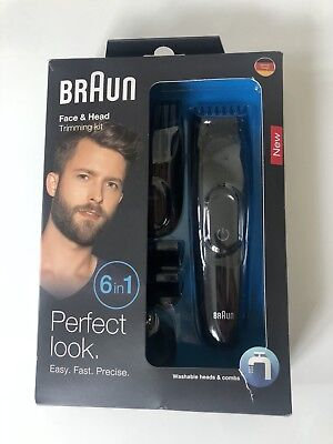 BRAUN Face & Head MGK3020 6in1 Multi-Styling Trimming Kit NEU Bart und Haar