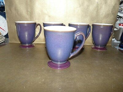 denby storm purple footed mug