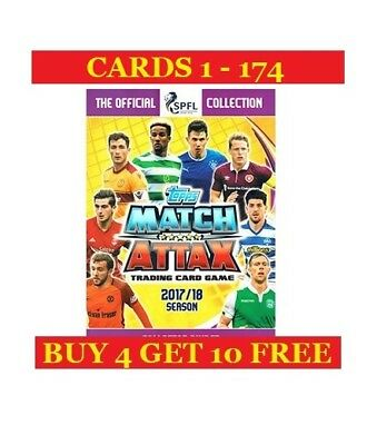 Topps SPFL Match Attax 2017/18 Single Cards (2017) Buy 4 Get 10 Free - Part 1