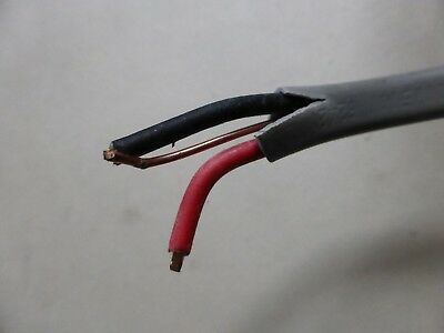 2.5MM TWIN AND Earth cable (old wiring colours) Red & Black 10m ...