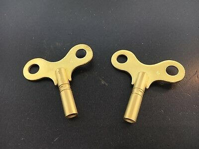 Antique Clock Winding Key Size 6  3.6 mm. or .142 inch Set of 2