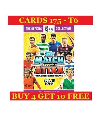 Topps SPFL Match Attax 2017/18 Single Cards (2017) Buy 4 Get 10 Free - Part 2