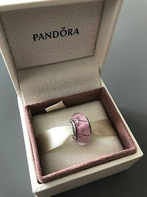 Pink Looking Glass Genuine PANDORA murano charm