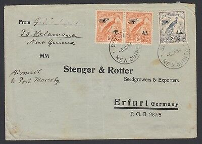 PAPUA NEW GUINEA PNG 1934 airmail Bird of Paradise cover to GERMANY