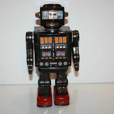 Horikawa Roboter Rotate-O-Matic Super-Astronaut aus Bleech (Made in Japan 1960er
