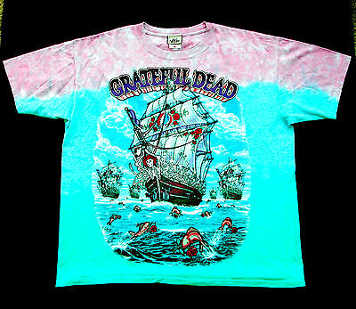 Grateful Dead Shirt T Shirt Ship Of Fools Ocean Galleon Tie Dye XL GDP 2001 New